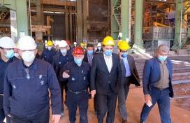 بازدید استاندار محترم کرمان از مجتمع احیاء مستقیم و فولاد سازی شرکت  فولاد سیرجان ایرانیان